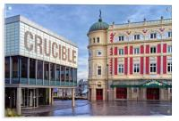 Crucible & Lyceum Theatres, Sheffield , Acrylic Print