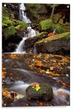 Lumsdale Falls in Autumn, Acrylic Print