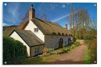 Dunster Cottage                       , Acrylic Print