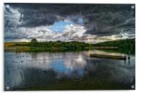 Storm Clouds over Ulley                 , Acrylic Print