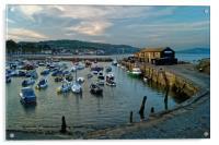 Lyme Regis Harbour                      , Acrylic Print