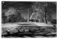 Cholera Monument, Infra Red                       , Acrylic Print