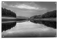 Howden Reservoir in Mono, Acrylic Print