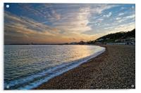Lyme Regis Sunset                      , Acrylic Print