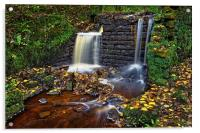 Rivelin Old Mill and Falls                        , Acrylic Print