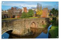 Medieval Exe Bridge                   , Acrylic Print