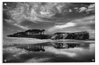 Coastline at Budleigh Salterton                   , Acrylic Print