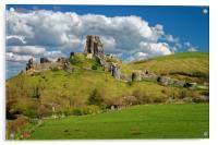 Corfe Castle                       , Acrylic Print