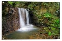 Hidden Falls near Damflask                       , Acrylic Print