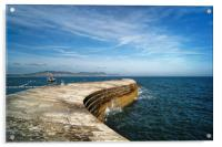 The Cobb, Lyme Regis                      , Acrylic Print