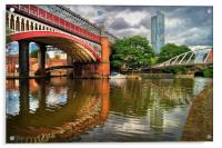 Castlefield and Beetham Tower, Manchester         , Acrylic Print