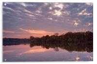 Chard Reservoir Sunset                            , Acrylic Print