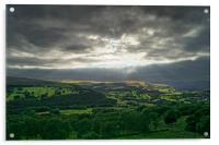 Hope Valley Light Rays                       , Acrylic Print