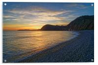 Sidmouth Sunset                      , Acrylic Print