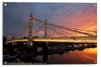 Albert Bridge, Acrylic Print