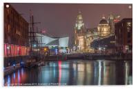 Liverpool at night, Acrylic Print