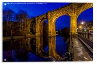 Knaresborough Viaduct at night, Acrylic Print