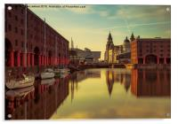 Albert Dock Reflections, Acrylic Print