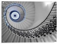 Spiral Stairs, Acrylic Print