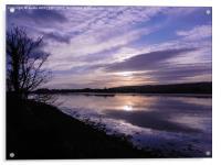 River Axe Axmouth, Acrylic Print