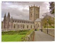 St Davids Cathedral Pembrokeshire, Acrylic Print