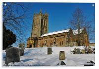 KINGSTON ST MARYS CHURCH SOMERSET, Acrylic Print