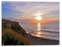 SUNSET AT KILVE BEACH SOMERSET, Acrylic Print