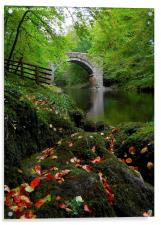 HOLNE BRIDGE DARTMOOR DEVON, Acrylic Print