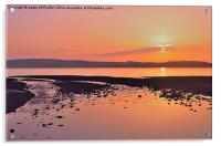 RED SKY NIGHT CUMBRAE DELIGHT, Acrylic Print