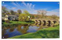 WITHYPOOL VILLAGE AND BRIDGE EXMOOR, Acrylic Print
