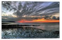 West Somerset Coastline Sunset, Acrylic Print