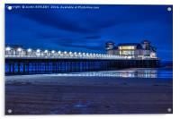 Weston Super Mare Pier At Night, Acrylic Print