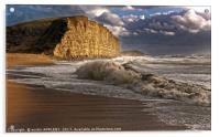 West Bay Storm And Waves, Acrylic Print