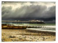 Cromer Pier Storm, Acrylic Print