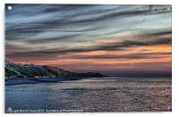 Sunset on Cromer Cliffs, Acrylic Print