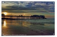 Cromer Pier at sunset, Acrylic Print