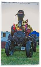 Moose traction engine at sunset, Acrylic Print