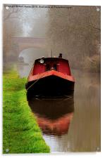 Narrowboat on the Canal, Acrylic Print