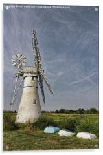 Thurne Dyke Mill and Boats, Acrylic Print
