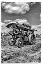"Showmans Engine ""Lord Nelson"" Black and White, Acrylic Print"