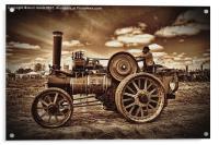 Jem General Purpose Engine in sepia, Acrylic Print