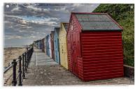 Colourful Beach Huts, Acrylic Print