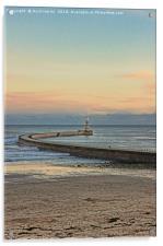 Roker Pier and Lighthouse Sunderland, Acrylic Print