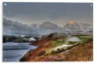 Sunrise over Llyn Clywedog Reservoir 2, Acrylic Print