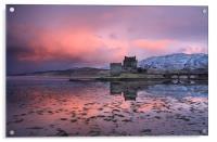 Eilean Donan Castle at sunrise, Acrylic Print