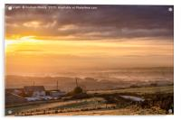A Misty and Frosty sunrise above Norden Village, Acrylic Print