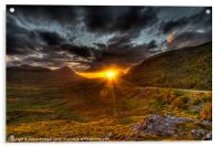 Sunset in the Highlands, Acrylic Print