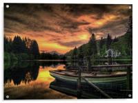 Spring Sunset Loch Ard, Acrylic Print