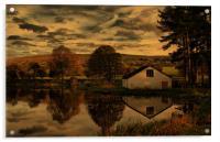 Sunset At The Fishing Lodge, Acrylic Print