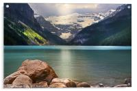 Rockey Mountain Lake, Acrylic Print